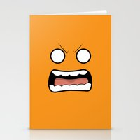 scary Stationery Cards featuring Scary Face by Tombst0ne