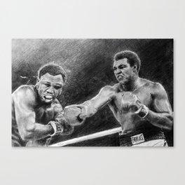 Thrilla in Manilla Pencil Drawing Canvas Print