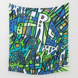 Feel This Real Forever (green) Wall Tapestry