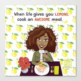 Life + Lemons Canvas Print