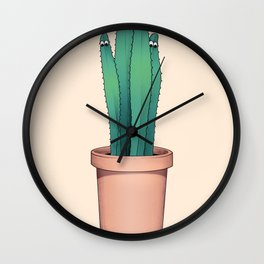 Cactuses Are Dangerous Wall Clock