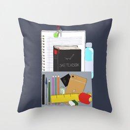 Artist's bag Throw Pillow