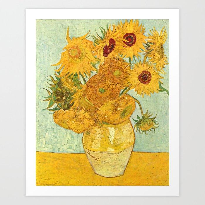 Vincent Van Gogh Sunflowers Vintage Painting Kunstdrucke