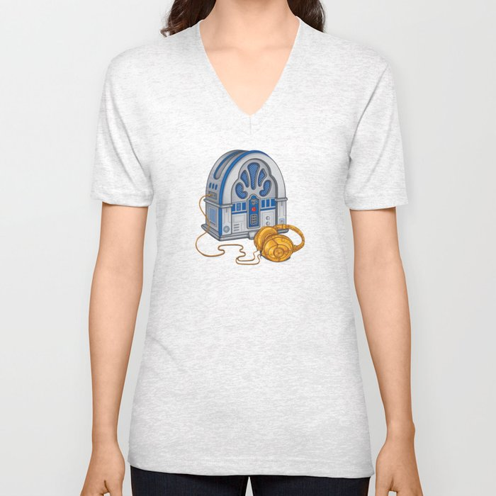Beats by Droid - Recycled Future Unisex V-Neck