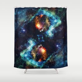 Abstract Galaxy Infinity Shower Curtain