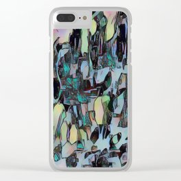 Chaos in Blue Clear iPhone Case
