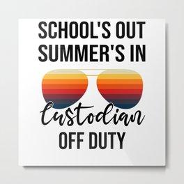 School Administrator Summer Vacation Graduation Metal Print