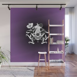 The Skull the Flowers and the Snail Wall Mural