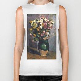 """Paul Cezanne """"Still Life with Flowers in an Olive Jar"""" Biker Tank"""