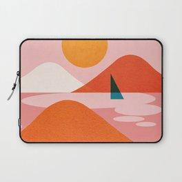 Abstraction_Lake_Sailing_Minimalism_002 Laptop Sleeve