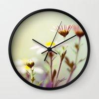 blush Wall Clocks featuring Blush by Sandra Arduini