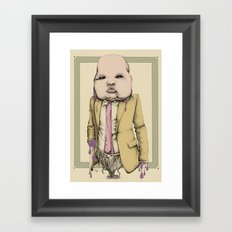Yellow Jacket Framed Art Print