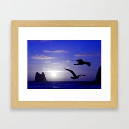 the double bird blues Framed Art Print