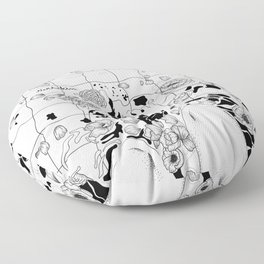floating flowers Floor Pillow