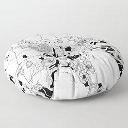 floating flowers Floor Pillow