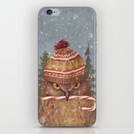 Christmas Owl  iPhone Skin