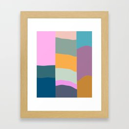 Abstract Geometric Shapes in Fun, Bright and Bold Colors Framed Art Print