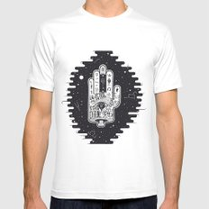 Hand of Fate MEDIUM White Mens Fitted Tee