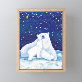 Polar bears, arctic animals Framed Mini Art Print