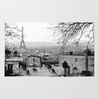 paris Area & Throw Rugs featuring Paris by Studio Laura Campanella