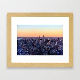 Uptown View Framed Art Print