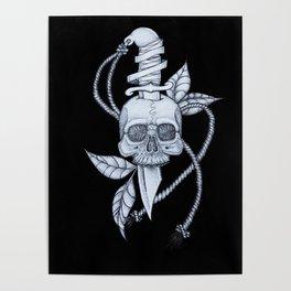 Headache (black background) Poster