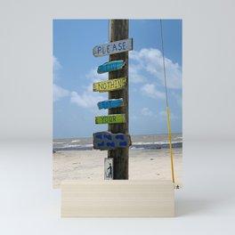 Obey the Beach Sign Mini Art Print