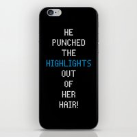 neil young iPhone & iPod Skins featuring Scott Pilgrim vs. The World - Young Neil by MacGuffin Designs