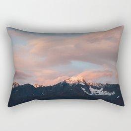 Alaskan Mountain Sunset (Pink) Rectangular Pillow