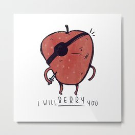 Scary Berry Metal Print