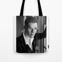 benedict Tote Bags featuring Benedict  by nicolebrander