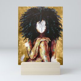 Naturally I GOLD Mini Art Print