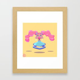 bubblegum dreams Framed Art Print
