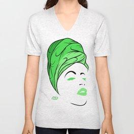 Lady Wrap (green) Unisex V-Neck
