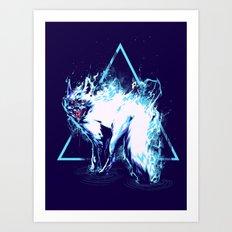 flaming Fox Art Print