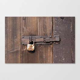 Locked - verschlossen Canvas Print