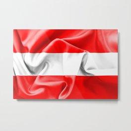 Austria Flag Metal Print