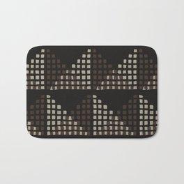 Layered Geometric Block Print in Chocolate Bath Mat