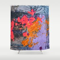 new jersey Shower Curtains featuring New Jersey by Aniko Gajdocsi