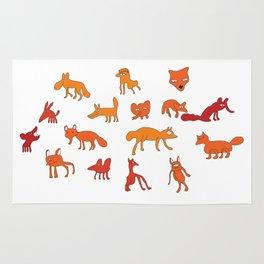 Weird Foxes Rug