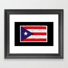Puerto Rican flag Framed Art Print