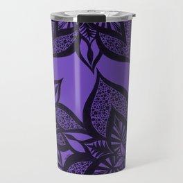 Floral Fantasy in Purple Travel Mug