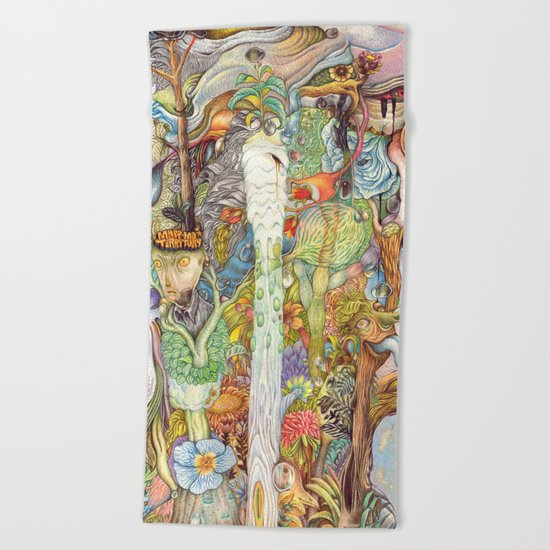 Head nature Beach Towel