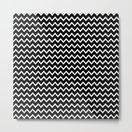 Black Chevron Metal Print