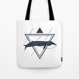 Cosmic Whale. Geometric Style Tote Bag