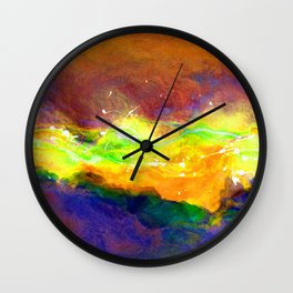Lightning Abstract Of Freedom Wall Clock