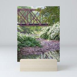 Train Bridge over The Beaverkill River Mini Art Print