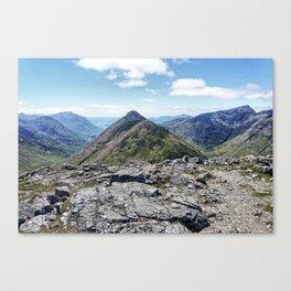 Aonach Eagach from Stob Coire Raineach Canvas Print