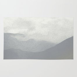 Rannoch Moor - mists and mountains Rug
