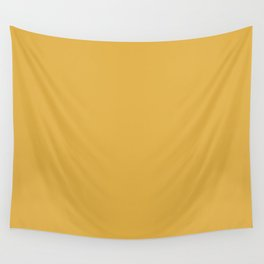 Golden Mustard Yellow 2 Solid Color Pairs w/Sherwin Williams 2020 Trending Color Gambol Gold SW6690 Wall Tapestry